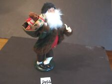 Byers Figurine 10 inch Santa with Pipe & Sack of Gifts