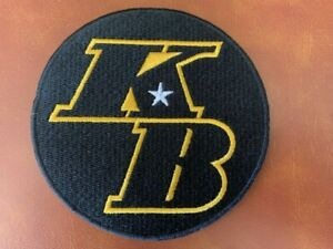 """KOBE BRYANT KB PATCH LARGE STYLE 4"""" BASKETBALL HALL OF FAME NBA FINALS LAKERS"""