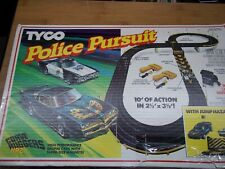Vintage Tyco Racing Police Pursuit Slot Car Racing Set includes cars