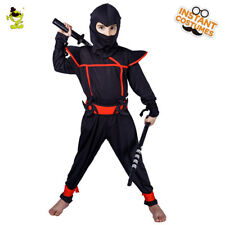 Popular Cool Ninja Costume Kid Japan Assassin Cosplay Fancy Outfit for Boy Party