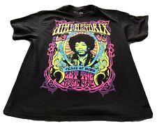 Jimi Hendrix black T-shirt size L 1969 reproduction Psychedelic Poster print