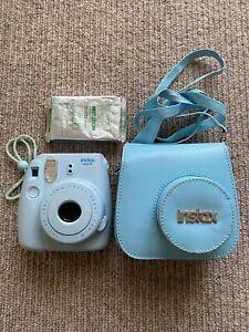 INSTAX Mini 8 Light Blue Polaroid Camera + Case + Film