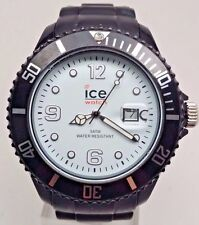 Ice Sili Black-White Big Date Watch Braided Band 45mm SI.BW.B.S.10