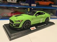 2020 FORD MUSTANG SHELBY GT500 - Green 1/18 scale Maisto Special Edition - New