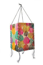 Bermoni Leaves Patched Rectangle Paper Lamp Lantern