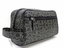 Mens Authentic Calvin Klein Black Toiletry Travel Shaving Case Wash Bag CK Logo