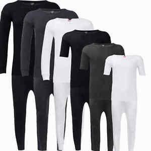 Mens Long Johns Thermal Underwear Long Sleeve Short Sleeve Warm Top Bottom
