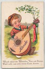 """377026) Leporello AK """"Junge mit Mandoline"""" aus Altenahr Krs. Ahrweiler gel.1938"""