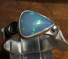 Brazil Crystal Opal 1.6 Karat 950er Silberring Größe 17,8 mm