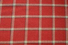 Red Windowpane Plaid Upholstery Mecca Vermillion Swavelle Fabric