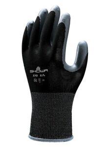 Showa 370 Black Assembly Grip Gloves Size 8s Large