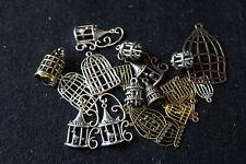 Tibétain 3D/2D cage à oiseaux breloque/pendentifs nouveauté breloque