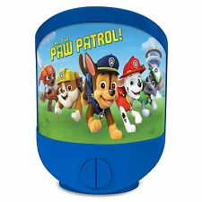 PAW PATROL LENTICULAR NIGHT LIGHT MULTI FUNCTION KIDS BOYS BEDROOM