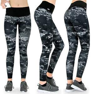 Formbelt® Laufhose Damen lang, Lauftights, Leggings mit Tasche, Farbe: Marmor