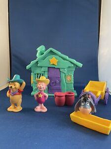 Round 'Em Up Western Cowboy Winnie The Pooh Eeyore Piglet Wagon Playset