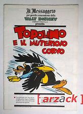 TOPOLINO supplemento a IL MESSAGGERO Topolino e il misterioso corvo 20/1/1990
