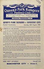 More details for queen's park rangers reserves v coventry city reserves  1950/51