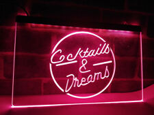 Cocktails Cocktail Dreams Bartender Neon Sign Light Plate Flag Bar Club Pub Gift