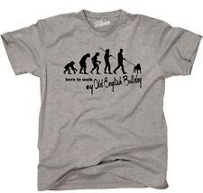 T-Shirt EVOLUTION OLD ENGLISH BULLDOG born walk Hunde Hund Siviwonder bis 4XL