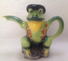 Vintage Wood Potters of Burslem Frog Teapot Hand Painted Staffordshire England