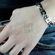 POWER AUTHENTIC MAGNETIC Shine Chain TITANIUM Sport Balance Bracelet Wristband