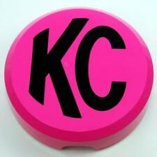 KC DAYLIGHTER KC SLIMLITES HARD PLASTIC PINK LIGHT COVERS WITH BLACK KC LOGO PR