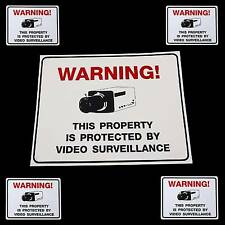 HOME VIDEO SECURITY CAMERA BURGLAR ALARM WARNING SIGN+STICKERS