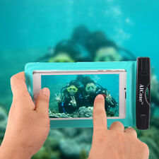 for iPhone 7 Plus 8 6s Plus Waterproof Underwater Photo Case Phone Dry Bag Pouch MINT Blue