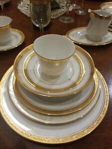 Dinner Plate Gold Contemporary Original China Dinnerware For Sale Ebay