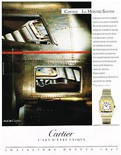 Publicité Advertising 1991 La Montre Santos de Cartier