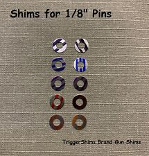 10 Pak TRIGGER Shim Assortment fit  Ruger Old Model Revolver 3 Screw - 1/8-10T