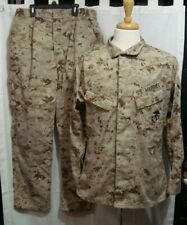 US Marines Digital Desert Camo MARPAT BDU Woodland - Top & Pants - Size Med-Reg