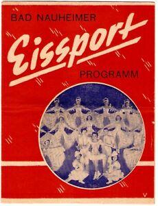 1949 Bad Nauheimer Germany Ice Sports Program Soldier Souvenir