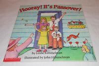 Hooray It's Passover Leslie Kimmelman 2000 PB Seder Matzah Elijah Jewish Holiday