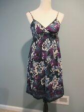 Derek Heart Blue, Purple & Black Sun Dress Juniors Sz: Small Great Condition