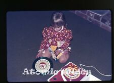 1972  35mm Photo slide  girls playing with Red Raven Movie Records player #1