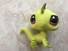Littlest Pet Shop RARE Dragon #3572 Brown Green Lizard Lps