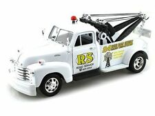 """1953 CHEVROLET 3100 TOW TRUCK WHITE """"ROAD SERVICE"""" 1:24 BY WELLY 22086"""