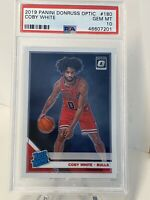 2019-20 Panini Donruss Optic Rated Rookies Coby White #180 PSA 10 Rookie