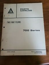 Allis Chalmers Two Way Plows 700 Seriesdealer Parts Catalogmanual 9001357