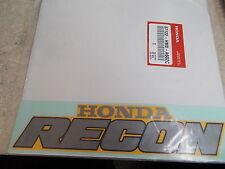 NOS OEM Honda Fuel Tank Emblem (Type4) 2003-2004 TRX250 Fourtrax 87122-HM8-A60ZC