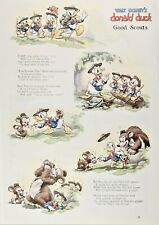 "Walt Disney's Donald Duck ""Good Scouts"" Comic 1930s"