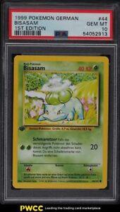 1999 Pokemon German 1st Edition Bulbasaur Bisasam #44 PSA 10 GEM MINT