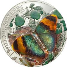 Central African Rep 2014 Butterflies in 3D Euphaedra neophron Silver Proof Coin