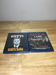Lot Of 2 Brand New Sealed Blu-rays DVDs Gangster Land & Travolta Is Gotti!