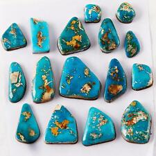 LOT 220cts  NATURAL Old BLUE GEM Turquoise Cabochon Cab Lander County Nevada A1
