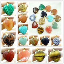 35*35MM Mixed agate Healing Reiki Chakra Physical Heart pendant Gemstone Beads