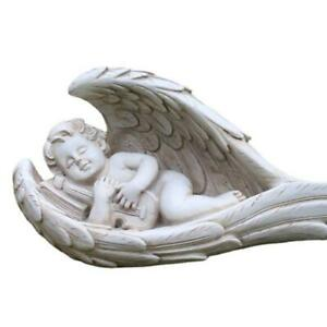 Angel Boy Resin Craft Ornament Figurines Angel Wing Statue Sculpture Decoration