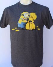 Despicable Me Minions Banana Men's Dark Gray's T-Shirt Size Medium