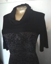 Marccain jumper dress, wool blend, size M UK size 12, stunning cowl neck